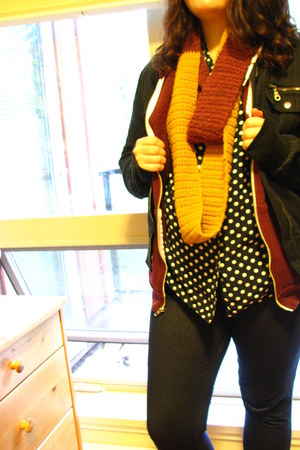 unknown blouse - Hot Topic jacket - Avon leggings - i made it scarf