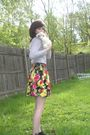 Black-skirt-gray-top-black-dollhouse-shoes-pink-charlotte-russe-accessorie