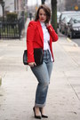 Periwinkle-boyfriend-jeans-red-zara-blazer-white-collar-zara-top