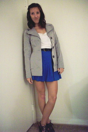 charcoal gray tie pumps coach heels - silver petty coat Candies jacket