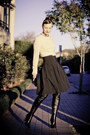 Camel-wool-bassike-sweater-black-silk-cue-skirt