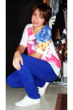 Zara blouse - Zara pants - Keds sneakers