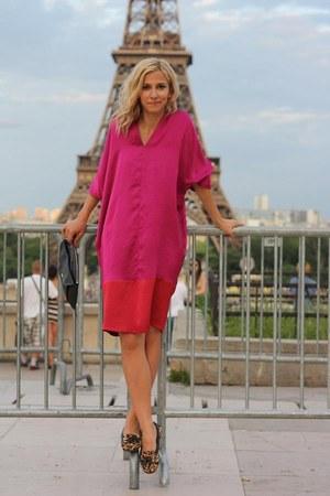 hot pink large Pnk Casual dress