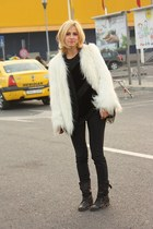 white fur Pnk Casual jacket