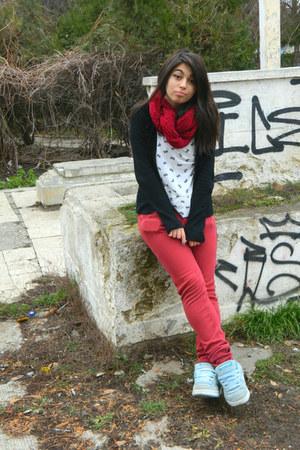 berkshire scarf - Zara blouse