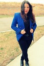 Blue-goodwill-blazer-black-goodwill-blouse-black-target-jeans-black-jeffre