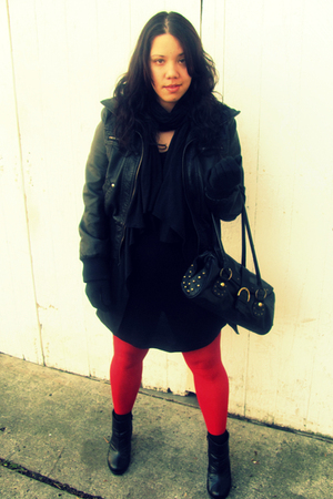 Arden B jacket - Forever21 dress - Target scarf - Goodwill tights - Forever 21 b