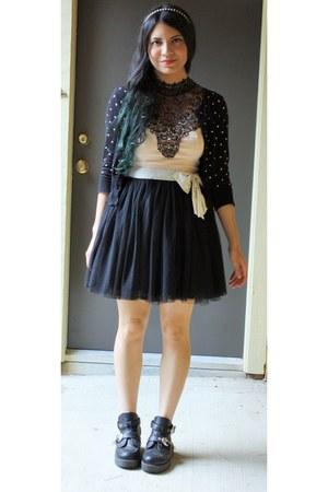 Forever 21 cardigan - Forever 21 skirt - Charlotte Russe top