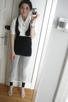 random sweater - vest - skirt - Wolford leggings - leggings - Zara shoes