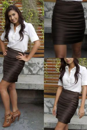 white Jaspal blouse - brown skirt