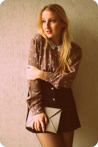 vintage shirt - H&M bag - vintage skirt