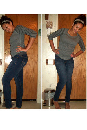 Forever 21 top - American Eagle jeans