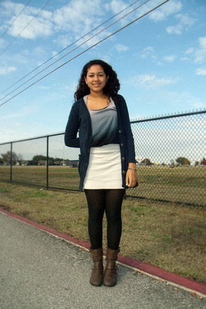 boots - Aldo skirt - Aerie cardigan