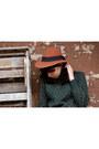 Forest-green-vintage-sweater-tawny-vintage-felt-vintage-hat
