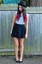 silver Nordstrom top - black Nordstrom skirt