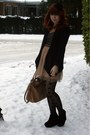 Black-topshop-jacket-nude-dahlia-dress-tan-chloe-bag-black-h-m-tights-bl
