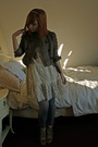 Beige-dahlia-dress-silver-h-m-tights-brown-chloe-boots-brown-anna-van-toor