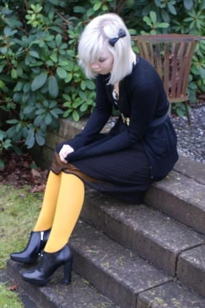 H&amp;M sweater - dept dress - H&amp;M tights - dior shoes - SIX accessories