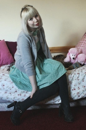 selfmade dress - see by chlo sweater - see by chlo shoes - H&amp;M tights - SIX acce