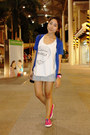 Blue-cardigan-white-recycle-top-artwork-top-light-blue-pull-bear-skirt-h