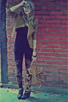 Elle Fashion jacket - Forever 21 shoes - Forever 21 hat - Zara leggings