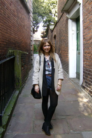 Ralph Lauren shirt - Topshop coat - calvin klein shorts