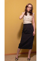 f21 blouse - I made it skirt - isaac mizrahi shoes