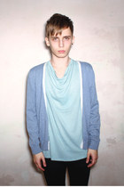sky blue Follow My Eyes cardigan - light blue Follow My Eyes t-shirt