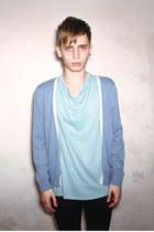 sky blue Follow My Eyes cardigan - light blue Follow My Eyes t-shirt