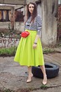 Lime-green-front-row-shop-skirt-black-front-row-shop-sweatshirt