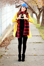 Yellow-wholesale7-coat-blue-unknown-hat-red-tartan-custom-made-scarf