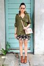 Olive-green-plain-nava-jacket-black-embroidered-nava-skirt