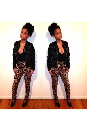 black Target jacket - brown Forever 21 pants