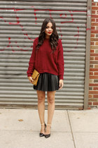 GoodNight Macaroon sweater - MCM bag - GoodNight Macaroon skirt - Zara heels