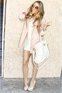 White-shophandrcom-dress-light-pink-h-m-blazer-beige-shophandrcom-bag-beig