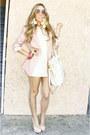 White-shophandrcom-dress-light-pink-h-m-blazer-beige-shophandrcom-bag-beig