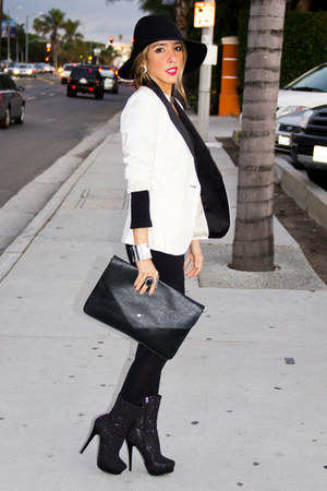 white tuxedo blazer HAUTE &amp; REBELLIOUS blazer - black HAUTE &amp; REBELLIOUS purse