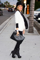 white tuxedo blazer HAUTE & REBELLIOUS blazer - black HAUTE & REBELLIOUS purse
