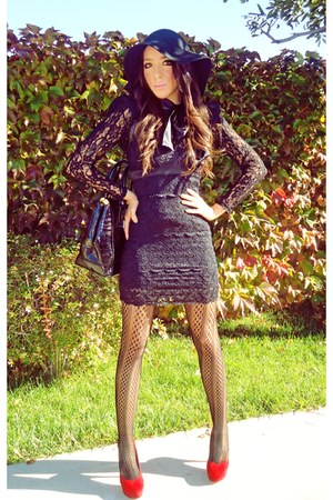 H&M blouse - HAUTE&REBELLIOUS shoes - Forver21 dress - HAUTE&REBELLIOUS hat