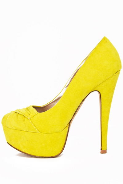 yellow neon pumps HAUTE & REBELLIOUS heels