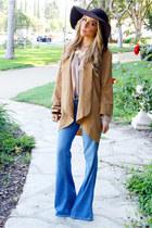 light blue flare denim BEBE FLARE DENIM jeans