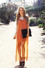 Burnt-orange-haute-rebellious-dress-black-haute-rebellious-bag