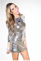 silver sequins HAUTE & REBELLIOUS dress