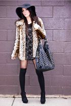beige leopard print Forever 21 coat - suede MICHAEL ANTONIOS shoes