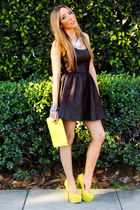 yellow HAUTE & REBELLIOUS heels