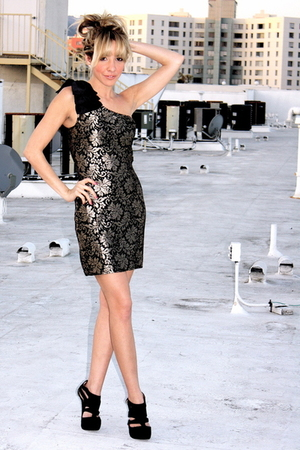 black Soho dress - black downtown la