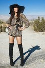 Black-forever-21-shorts-off-white-h-m-blouse-black-boots-black-street-vend