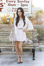 Pink-honey-punch-dress-pink-h-m-purse-white-sweater-gold-forever-21-access