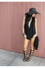 Black-sample-blouse-black-gladiators-shoes-black-forever-21-bag-silver-col
