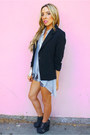 Black-haute-rebellious-blazer-gray-haute-rebellious-shorts-silver-gladia